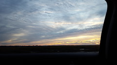 -Sunrise from the car while driving to Parris Island- (wilwright) Tags: travel nature clouds sunrise southcarolina semperfi parrisisland
