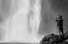 Looking For Gold (TS446Photo) Tags: street mist man fall nature wet water look rock contrast fun flow person coast waterfall iceland nikon waves looking natural 85mm stranger iland nikkor vapour damp d600