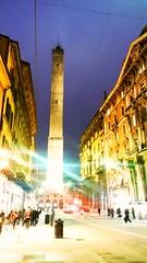 Verso le torri (teresabarbieri) Tags: light night bologna torri leduetorri