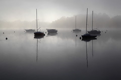 Mist and boats (rogermarcel) Tags: mist sunrise river boats bateaux brume waterscape rogermarcel