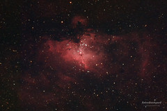 M16 - Eagle Nebula in HaRGB (AstroBackyard) Tags: night photoshop canon photography eos exposure eagle object mount explore telescope filter nebula astrophotography 7d processing imaging ha dslr messier tracking cf m16 constellation xsi scientific refractor apochromatic hargb serpens 450d astronomik 12nm ed102