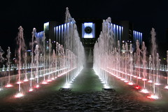 Sofia - Fountains at the National Palace of Culture (NDK) (lyura183) Tags: night sofia bulgaria fountains ndk