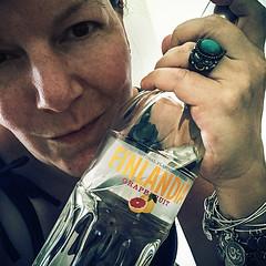 Pregame strong (Melissa Maples) Tags: cameraphone food woman selfportrait me apple turkey square hotel bottle asia drink text trkiye 11 melissa alcohol grapefruit vodka brunette maples kemer finlandia iphone  badehotel iphone6 instagram badeotel