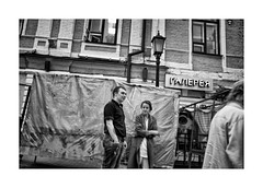 Gallery (Jan Dobrovsky) Tags: street city people bw contrast gallery cigarette grain ukraine document fujifilm smokers kiev