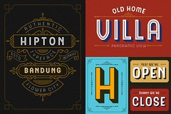 The Hipton (ilham.herry) Tags: england sign vintage painting advertising hipster retro headline signage font typeface layered allcaps