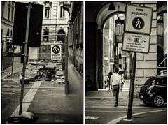 Area Pedonale (-dow-) Tags: signs fuji milano pedestrians cartelli segnali pedoni pedestrianzone areapedonale xe1 viasilviopellico viasantamargherita xf5612 fujixf56f12