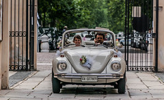 The wedding (exenza) Tags: wedding italy car bride beatle