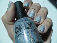 Mirrorball - Orly (Raabh Aquino) Tags: glitter silver hands nail polish nails mos unhas holographic prata esmalte hologrfico