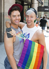 094A8606 v2 (Wheels Down) Tags: nyc gay friends portrait cute male smile arms butt caps streetphotography handsome guys pride cap tanktop hotties hottie pflag prettyboy 2016