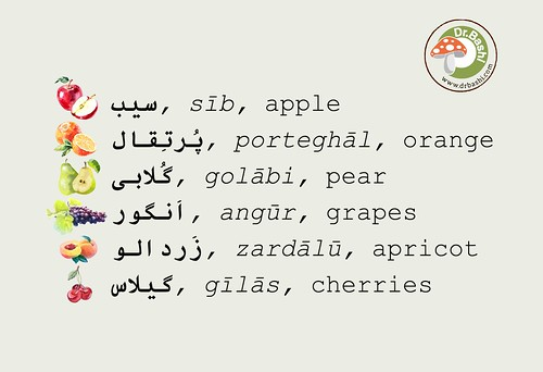 Fruits in Persian - Miveh hā be Fārsi -  میوه ها به فارسی