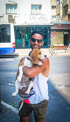 2016.07.06 Tel Aviv People and Places 06597 (tedeytan) Tags: dog israel telaviv dizengoff nadav exif:make=sony camera:make=sony exif:aperture=ƒ56 exif:isospeed=100 exif:focallength=191mm exif:lens=e18200mmf3563 exif:model=ilce6300 camera:model=ilce6300