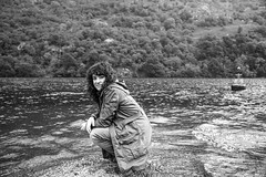 Portrait (Lola Ylo) Tags: portrait white black mountains nature water girl scotland nikon lochlomond d3200