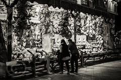 London Nov 2015 (7) 042 - Winter Wonderland in Hyde Park (Mark Schofield @ JB Schofield) Tags: park christmas street city winter england white black london monochrome canon fairground carousel hyde oxford rides nightlife wonderland stalls 5dmk3