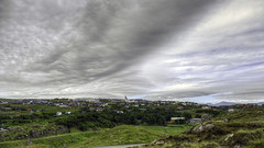 Hoyvk on the 18 juli 2016 (Jkup) Tags: sky church beautiful clouds landscape landscapes cityscape special panasonic handheld hdr faroeislands faroe froyar statechurch frerne hoyvk skggj frer 7ev islefaroe fz1000