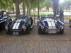 AC Cobra Replicas, Pilgrim G510WNJ and Dax GFB644W (Andrew 2.8i) Tags: queen queens square bristol classic car meet show breakfast club classics cars ac cobra replica kitcar kit sports sportscar open convertible roadster v8 british pilgrim dax tojeiro blue