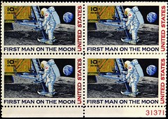"""First Man on the Moon"" 10 Cents U. S. Air Mail Postage (1969). Block of four (lhboudreau) Tags: 1969 stamps helmet astronaut nasa stamp astronauts usps moonlanding spacesuit postage postagestamp lem airmail philately stampcollection usstamps 10cents apollo11 tencents neilarmstrong manonthemoon july201969 uspostage theeaglehaslanded spacehelmet usstamp eaglehaslanded lunarlanding lunarexcursionmodule firstmanonthemoon stampcollectors spacestamp spacestamps collectorstamps collectorstamp"
