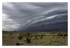 Roll Cloud (AnEyeForTexas) Tags: storm southwest clouds bigbendnationalpark bbnp chihuahuandesert stateoftexas