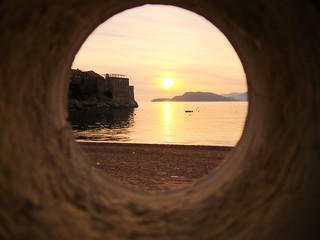 Sunset in a hole