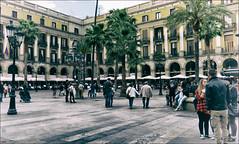 Plaza Real (candi...) Tags: barcelona palmeras personas ventanas farolas sociedad plazareal porches terrazas sonya77