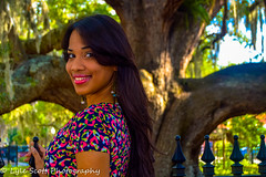 Pamela (BuccaneerBoy) Tags: park woman tree green girl beautiful beauty fence fun spring model downtown pretty dress tampabay florida saturday april brunettes clearwater safetyharbor pamelaramirez lylescottphotography