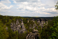 Over The Top (scuthography) Tags: blue green sandstone cloudy saxony ngc over may bastei 2015 saxonswitzerland flickrglobal kathrinschild