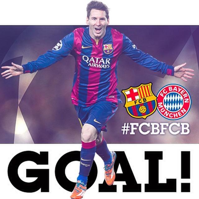 FC BARCELONA VS BAYERN MUNICH (2-0)  GOOOOOOOAAAAAAAAAL!!!  @leomessi  #FCBLive #FCBFCB #UCL