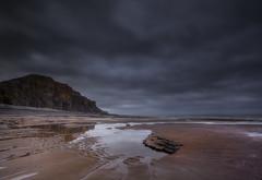 """ NEVER ANY LIGHT "" (Wiffsmiff23) Tags: beach reflections dramatic drama traeth traethmawr heritagecoastlinesouthwales"