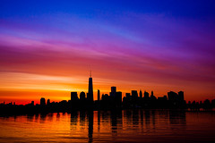 New York City Sunrise with One World Trade Center (Anthony Quintano) Tags: nyc newyorkcity skyline skyscraper skyscrapers manhattan may wtc lowermanhattan 2015 freedomtower oneworldtrade