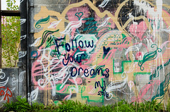 Damen Silos 4 (alexgeorgeny) Tags: sky chicago abandoned skyline graffiti nikon overcast crop bernie sanders urbex d5100