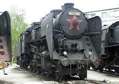 Hungarian Railways MV 424 Class 4-8-0 No. 424.365 at Magyar Vasttrtneti Park on 1 May 2016 (Trains and trams eveywhere) Tags: museum hungary budapest railway steam locomotive 480 magyar hungarian hungarianrailwaymuseum magyarvasttrtnetipark vasttrtneti