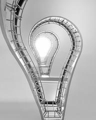 Bulb (Vesa Pihanurmi) Tags: architecture spiral prague praha stairwell staircase cubist cubism dmuernmatkybo josefgor houseofblackmadonna