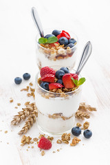 granola with yoghurt and berries (cook_inspire) Tags: breakfast dessert berries dairy granola