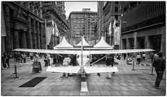 Big Boys toy comes to Town. (TOXTETH L8) Tags: mono marketing blackwhite sydney nsw cbd martinplace promotions centralbusinessdistrict cessna172 canons90