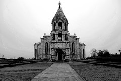 Ghazanchetsots Cathedral (Albert Ispiryan) Tags: blackandwhite tourism church cathedral armenia shushi ghazanchetsots artsakh