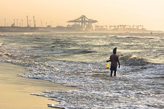 Shell collector.. (Aravindan Ganesan) Tags: canon fishermen marinabeach roi cwc shellcollector morningtime canon55250mm canon600d chennaiweekendclickers chennaiweekendclicker mychennai