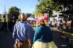 Hats.. (Samir D) Tags: street light people canada streets hat vancouver 35mm canon eos lights dof bc britishcolumbia streetphotography northamerica vans commercialdrive lightshadow carfree 604 vancity 2016 markiii 35mm14 samird vancitybuzz