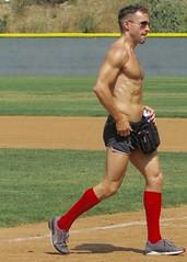 IMG_4494 (danimaniacs) Tags: shirtless man hot sexy guy field baseball muscle muscular hunk softball stud mansolo stevesiler