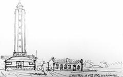 Ile d'Yeu, le Grand Phare de 56m (Croctoo) Tags: yeu phare crayon croquis croctoofr croctoo