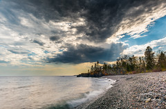 Grand Portage~ (vahidss9) Tags: sky beach minnesota nikon northshore lakeshore dramaticsky lakesuperior stormclouds grandportage vssphoto vahidsamie