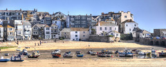 Low tide at St Ives, Cornwall (Baz Richardson) Tags: coast cornwall stives harbours sandybeaches cornishtowns