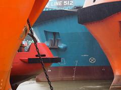 Minjiang River Shipyard (HerringCoveMike) Tags: china ships bow anchor fuzhou fujian shipyard vessels minjiangriver offshoresupplyships