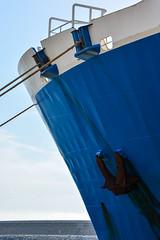Coque bleue (Dorian Duplex) Tags: voyage mer ferry port soleil corse peinture reflet ciel maritime cote bateau paysage navigation controle signe symbole vitesse geometrie ecume coque navire manoeuvre traverse carene commande commandant sillage arseille
