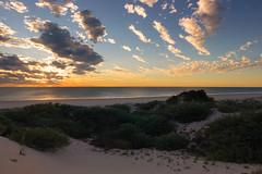 Serene beach scene (--Welby--) Tags: ocean sunset sea beach beautiful landscape coast sand dunes dune calming australia cable western wa serene kimberley broome