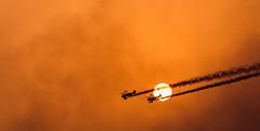 crossing the sun (M N S Photography) Tags: show sunset sky sun sport nikon air uae jet abu dhabi 80200mm d610