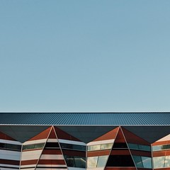 untitled (Adelaide Convention Centre) (michellerobinson.photography) Tags: michellerobinson abstract adelaideconventioncentre colour michmutters photography adelaide australia architecture southaustralia shapes lines geometric squareformat roof triangles