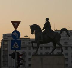 King Karl I of Rumania (1866-1914) (georgeunum) Tags: shadow twilight king bucharest tamron2875mmf28 canon450d