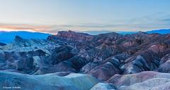The color of dreams (Photosuze) Tags: sunset california deathvalley zabriskiepoint geology landscape desert rocks rockformations clouds sky