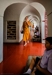 Transfer of knowledge (Goran Bangkok) Tags: orange thailand temple student bangkok religion monk buddhism wat