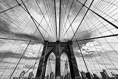 Let The Sky Fall (Anna Kwa) Tags: sky usa newyork skyline brooklyn clouds stand nikon structure brooklynbridge d750 always jessetaylor my afszoomnikkor1424mmf28ged ifoundmyway lettheskyfall annakwa