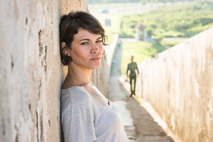 Cuban Beauty (Diana) (Geoff Livingston) Tags: light woman beauty lines soldier model shoot natural fort outdoor leading